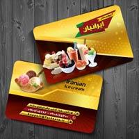 طرح کارت ویزیت آبمیوه و بستنی فروشی
