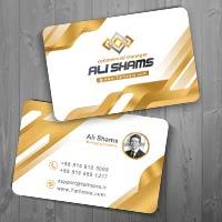 طرح لایه باز کارت ویزیت شخصی تجاری